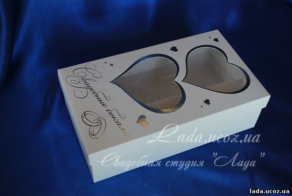 Упаковка для свадебных бокалов своими руками